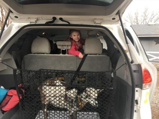 Happy Birthday Tyler! Chantilly in the minivan